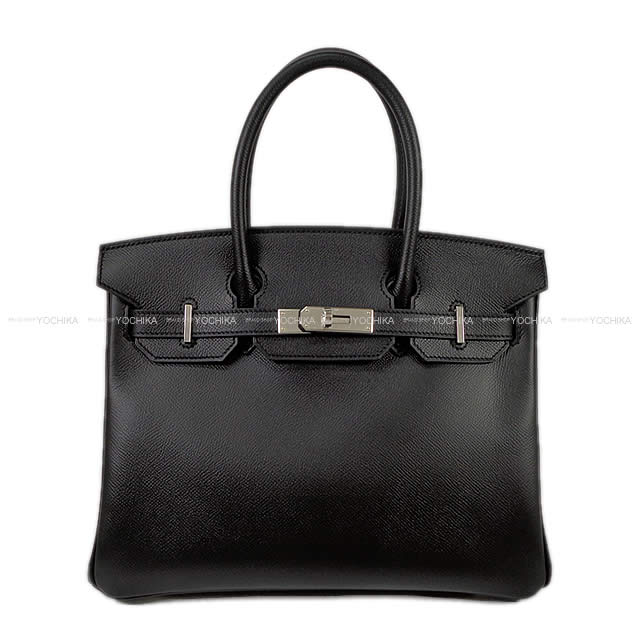 HERMES エルメス ハンドバッグ バーキン30 黒(ブラック) エプソン シルバー金具 新品