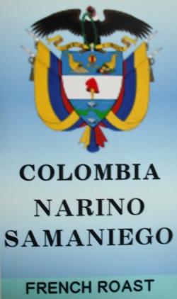 コロンビア ナリーニョ サマニエゴ(深炒り・フレンチロースト) コーヒー豆