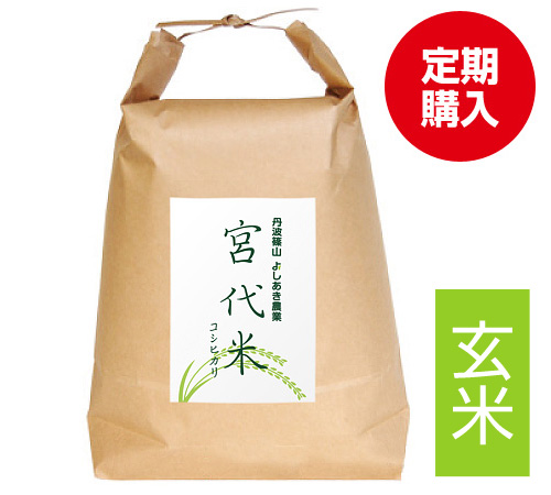 宮代米玄米 定期購入