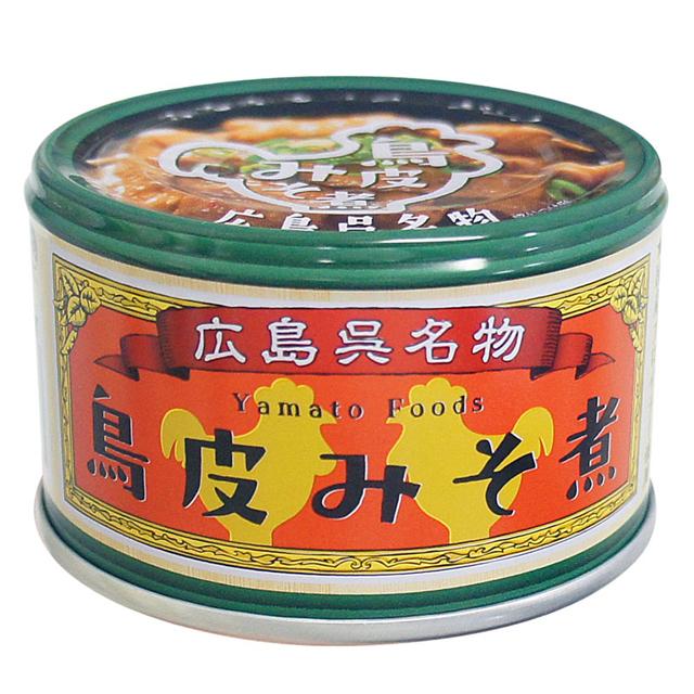 よしの味噌|鶏皮みそ煮(缶詰)130g パッケージ正面