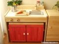 木製ままごとキッチンチェアータイプ《キッズ変身デスク》 カラー<C600C>