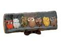 七匹の福郎陶板飾り