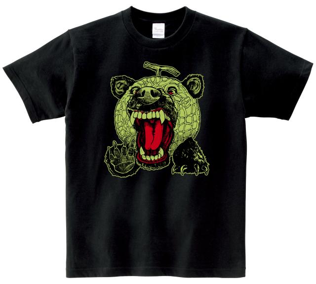 メロン熊Tシャツ (ブラック×グリーン)