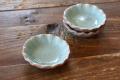 ロータスの葉の豆皿(7cm) テラコッタ オーシャングリーン