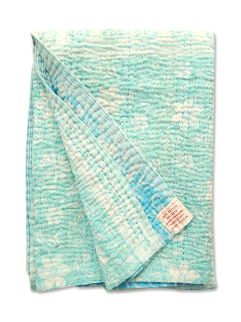 Jeanette Farrier  Baby Vintage Kantha ジャネット ファリア・ベビーブランケット ヴィンテージ カンタ キルト・004