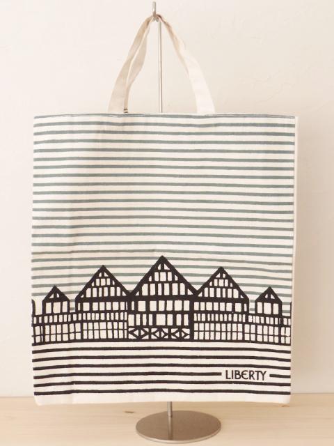 LIBERTY OF LONDON リバティ オブ ロンドン・Shopper Bag ショッパーバッグ(ボーダー)