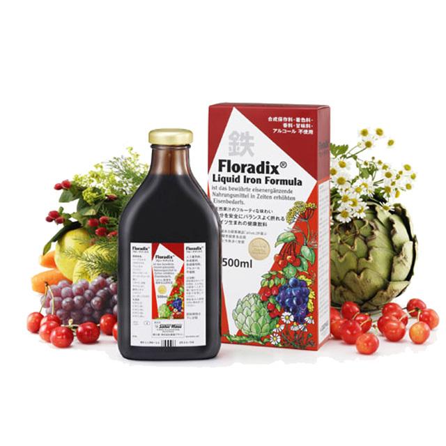 鉄分をバランスよく摂れるドイツ生まれの健康飲料 SALUSサルス フローラディクス 500ml