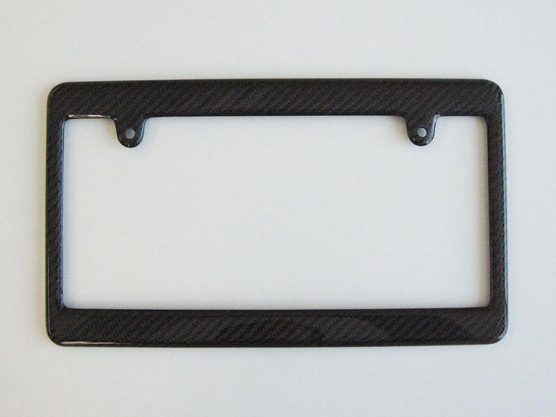 カーボンファイバーライセンスプレートフレーム-5色,前後セット