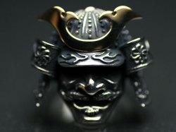 戦国武将/兜/勇武(立物18金)シルバーリング