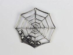蜘蛛の巣シルバーペンダントトップ