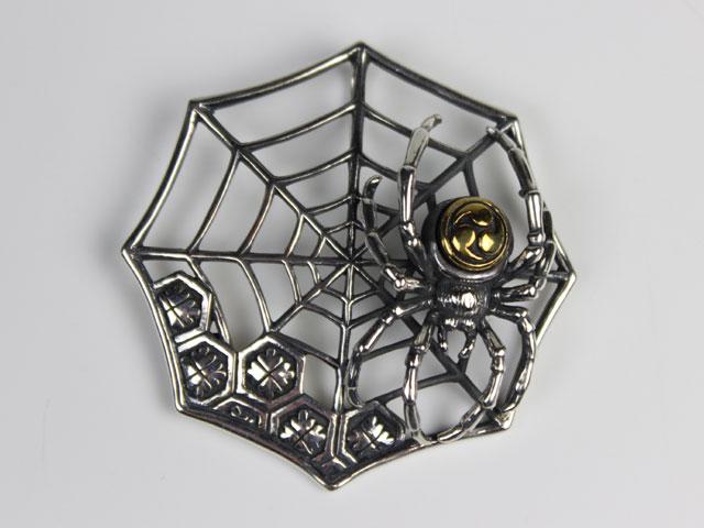 巴蜘蛛・蜘蛛の巣 シルバーペンダントトップ