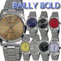 BAILLY BOLD メンズ腕時計 クォーツ アナログ 4年電池 ベルト調整工具付き画像