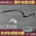 送料無料 眼鏡式拡大鏡 めがね式 オーバーグラス 眼鏡ルーペ画像