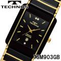 TECHNOS SWISS 腕時計 メンズ サファイアガラス セラミック テクノス TSM903GB画像