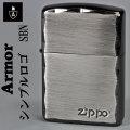 zippo(ジッポーライター)アーマー シンプル ロゴ ZIPPOロゴ入り ブラックニッケル画像