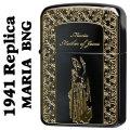 ZIPPO(ジッポーライター)1941レプリカ 聖母 マリア BNG ブラックニッケル/ゴールド画像