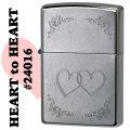 zippo(ジッポーライター) HEART t oHEART ハート ストリートクローム画像