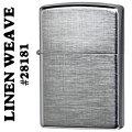 ZIPPO(ジッポー) Linen Weave リネンンウィーブ パターン(両面)ブラッシュクローム28181 画像