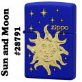 zippo(ジッポーライター)Sun and Moon #28791 Royal Blue Matte画像