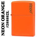 zippo(ジッポーライター)無地 Neon Orange(ネオンオレンジカラー)ジッポロゴ入り #28888ZL画像