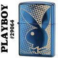zippo(ジッポーライター)PLAY BOY rabbit head logo #29064 ブルーサファイア画像