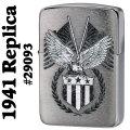 zippo(ジッポーライター)American bald eagle 1941年レプリカ #29093画像