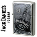 ZIPPO(ジッポー) Jack Daniel's ジャックダニエル Old No.7 29285 サテンクローム画像