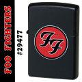 zippo(ジッポーライター)Foo Fighters フーファイターズ FF #29477 ブラックマット画像