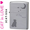 zippo(ジッポーライター猫)新キャットシリーズ・シルバーサテーナ(A) 2CAT-SSA 画像