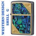 zippo ウエスタンデザイン 貝貼り加工メタル 2GW-SHELL メタルプレート貼り画像