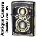 zippo ウッディー アンティーク カメラ 二眼カメラデザイン  BS 真鍮イブシ画像
