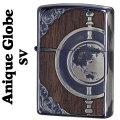 zippo(ジッポーライター)アンティークグローブ Globe Design 地球儀デザイン SV画像