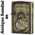 zippo(ジッポーライター)アンティークサンダイヤル 日時計デザイン BS画像