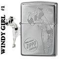 zippo(ジッポーライター)Windy-girl #1 ウィンディ クロームポリッシュ US加工画像