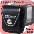 ZIPPO ジッポー純正革ケース・クリップタイプ黒 画像