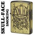zippo(ジッポーライター)スカルフェイス スモーキング・SMOKE 真鍮いぶし画像