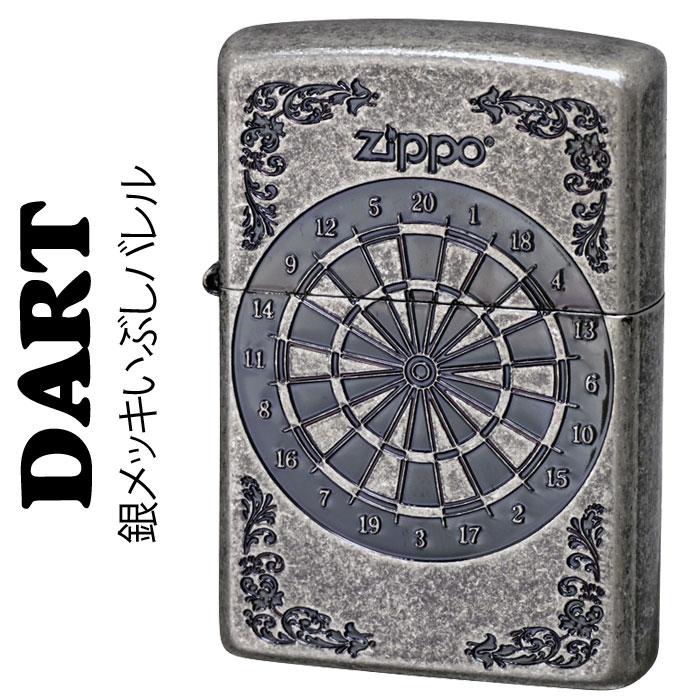 zippo(ジッポーライター)ダーツ ダーツボード 銀 シルバー イブシ バレル仕上げ画像