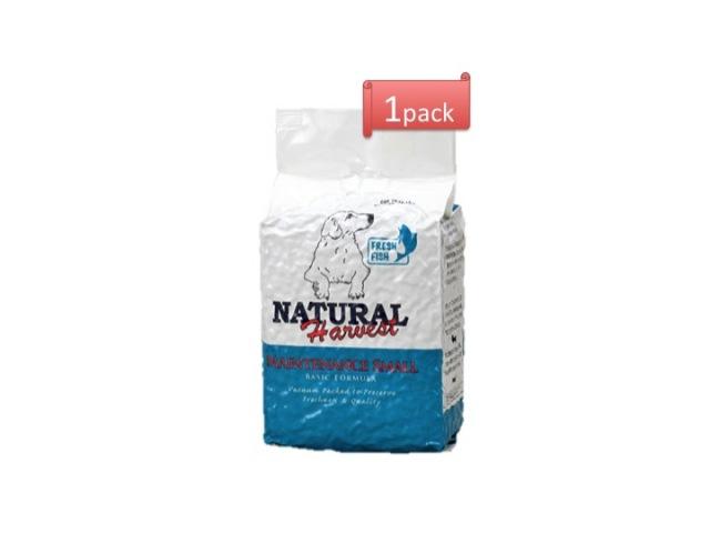 ナチュラルハーベスト ベーシックフォーミュラ メンテナンススモール[フレッシュフィッシュ]■標準粒 ■成犬 ■シニア用 1.59kg x 1袋 |AAFCO栄養基準適用|無添加ドッグフード