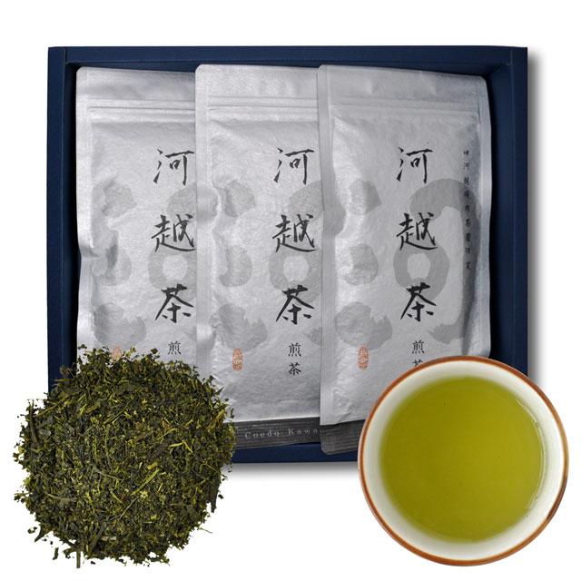 河越茶 煎茶 100g 箱入り3本セット