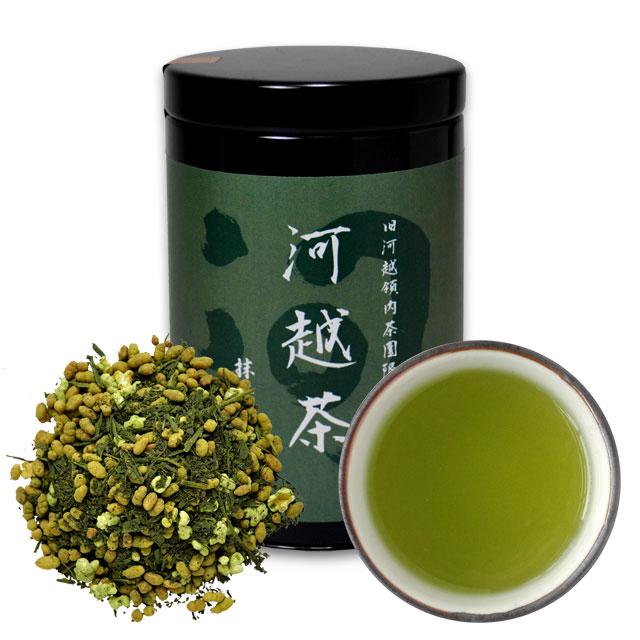 河越茶 抹茶入り玄米茶 50g 缶