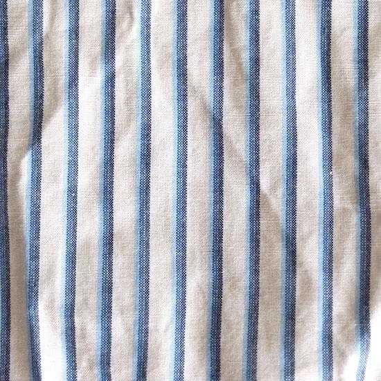 川越唐桟 白地に紺・青・水色縞