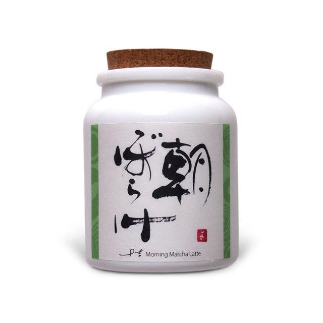 河越抹茶ラテ「朝ぼらけ」瓶