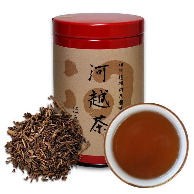 河越茶 ほうじ茶 40g 缶