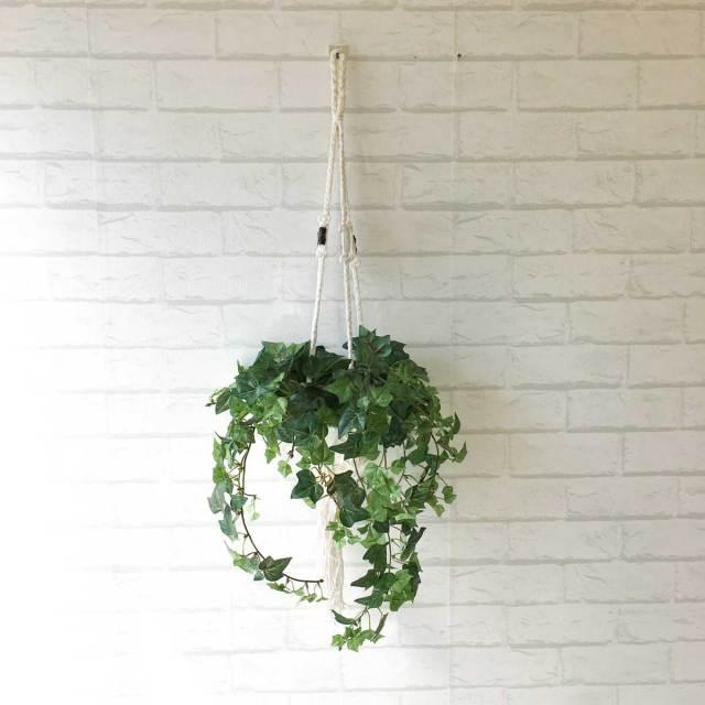 【PG044 アイビーハンギングポット【GLA-0790】】人工観葉植物 フェイクグリーン アーティフィシャルグリーン 造花 通販 装飾 観葉樹 人工樹木 インテリア 玄関 リビング おしゃれ 吊り鉢