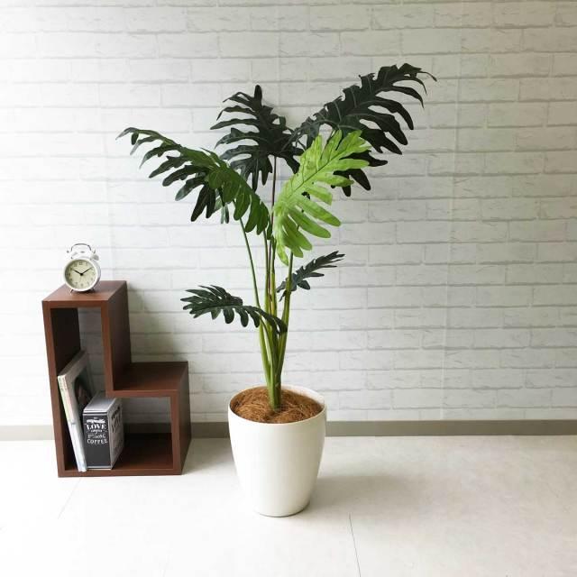 【PG087 セローム H120cm / ポリプロピレン鉢】人工観葉植物 造花 フェイクグリーンインテリア アーティフィシャルグリーン