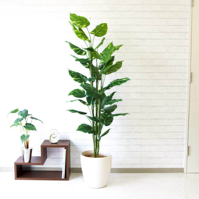 【PG100 ポトス H150cm  / ポリプロピレン鉢】人工観葉植物 造花 フェイクグリーンインテリア アーティフィシャルグリーン