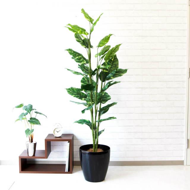 【PG101 ポトス H150cm  / ポリプロピレン鉢】人工観葉植物 造花 フェイクグリーンインテリア アーティフィシャルグリーン