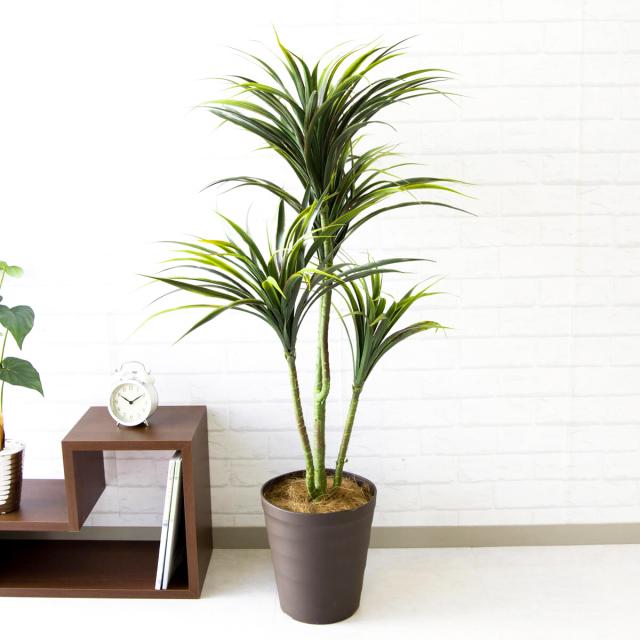 【PG103 ユッカツリー H115cm / ポリプロピレン鉢】人工観葉植物 造花 フェイクグリーンインテリア アーティフィシャルグリーン