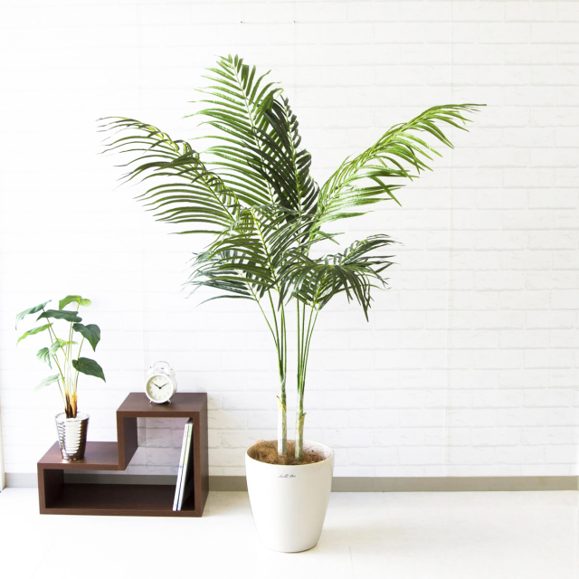 【PG109 アレカパーム H160cm 【GLA-1369】/ポリプロピレン鉢】人工観葉植物 造花 フェイクグリーンインテリア アーティフィシャルグリーン