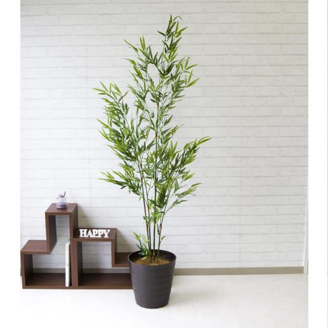 【PG112 バンブーツリー H175cm /ポリプロピレン鉢】人工観葉植物 造花 フェイクグリーンインテリア アーティフィシャルグリーン